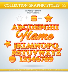 Flame graphic styles for design use for decor text vector