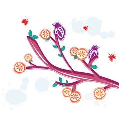 Summer floral branch vector