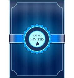Blue abstract invitation vector