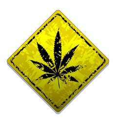 Sign of marijuana vector