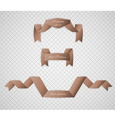 Brown quality label vector