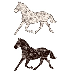 Set of browns horses vector