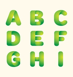 Green leaves eco font vector