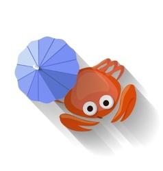 Modern flat design crab icon vector