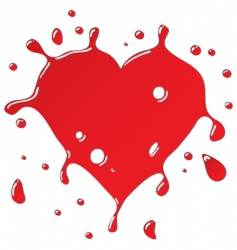Heart as red drops form vector
