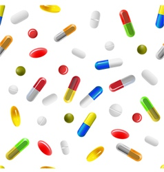 Pills background vector