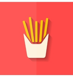 Fried potatoes icon flat design vector