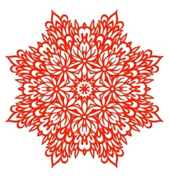 Abstract flower mandala decorative element for vector