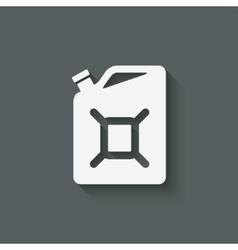 Gasoline canister symbol vector