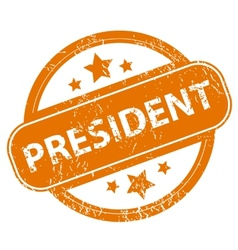 President grunge icon vector