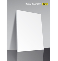 Template poster on the floor vector