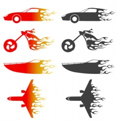 Flame vehicles vector