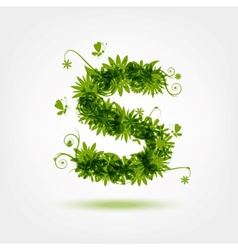 Green eco letter s for your design vector