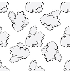 Grey oak leaf seamless vector