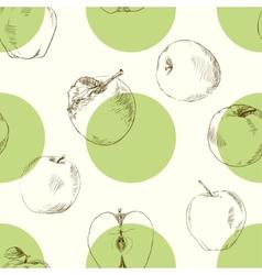Seamless pattern apples vector