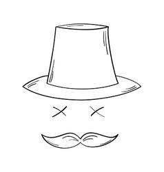 Gentleman with moustache vector