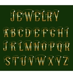 Font jewelry vector