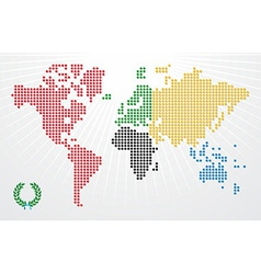 Olympics games world map vector