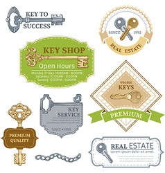 Set of keys design elements vector