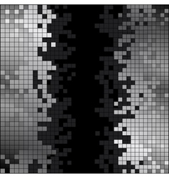 Abstract background with black and white pixels vector