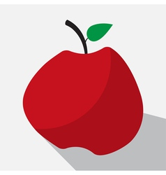 Apple and long shadow vector