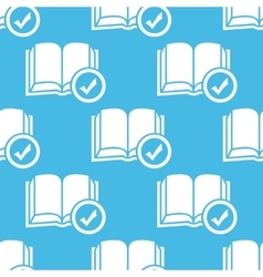Blue selected book pattern vector