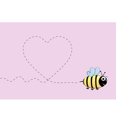 Bee in love vector