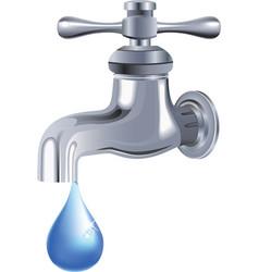 Water tap faucet vector