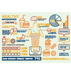 Healthy infographics vector