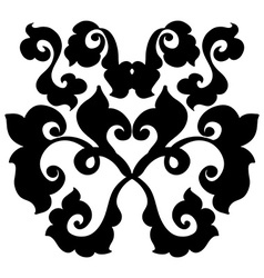 Ornamental damask element vector