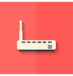 Wi fi router web icon flat design vector