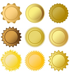 Set medals vector
