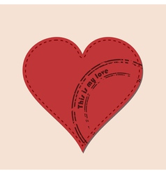 Heart and postmarks vector