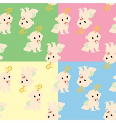 Nursery wallpaper pattern vector