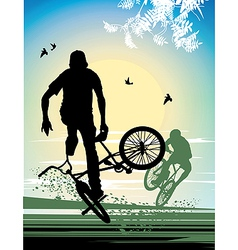 Exercise extreme stunt cyclist vector