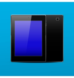 Tablet pc black vector