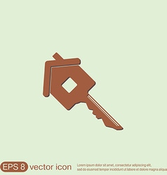 Key in the house real estate icon home sign vector