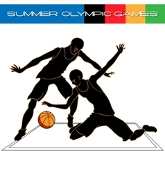 Summer olympic igry volleyball silhouettes vector