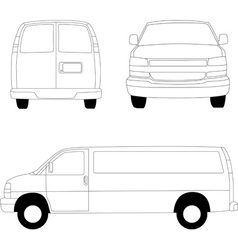 Delivery van lines vector