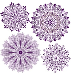 Collection new snowflakes vector