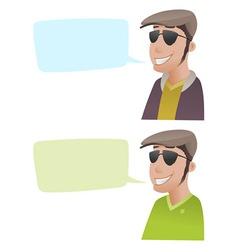 Man with flat caps vector