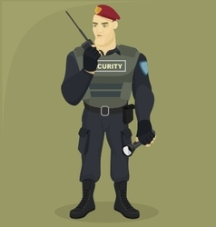 Security man vector