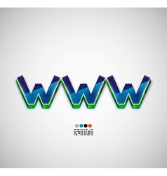 Www internet background vector