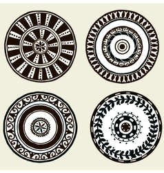 Set of ethnic doodle dishes vector
