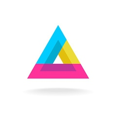 Colorful triangle logo vector