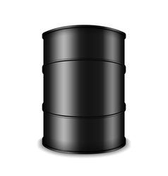 Black oil barrel vector