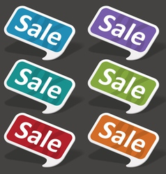 Sale speech bubbles set vector