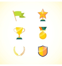 Set of achievement badges vector