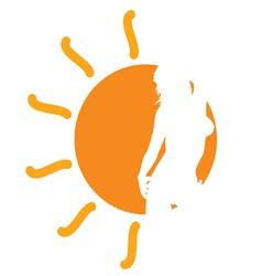 Girl in the sun vector