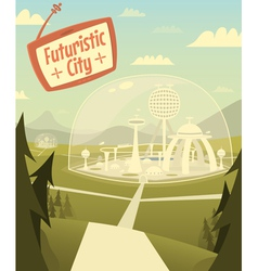 Futuristic city vector